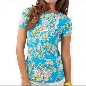 Lilly Pulitzer Jungle Glam cotton shirt medium